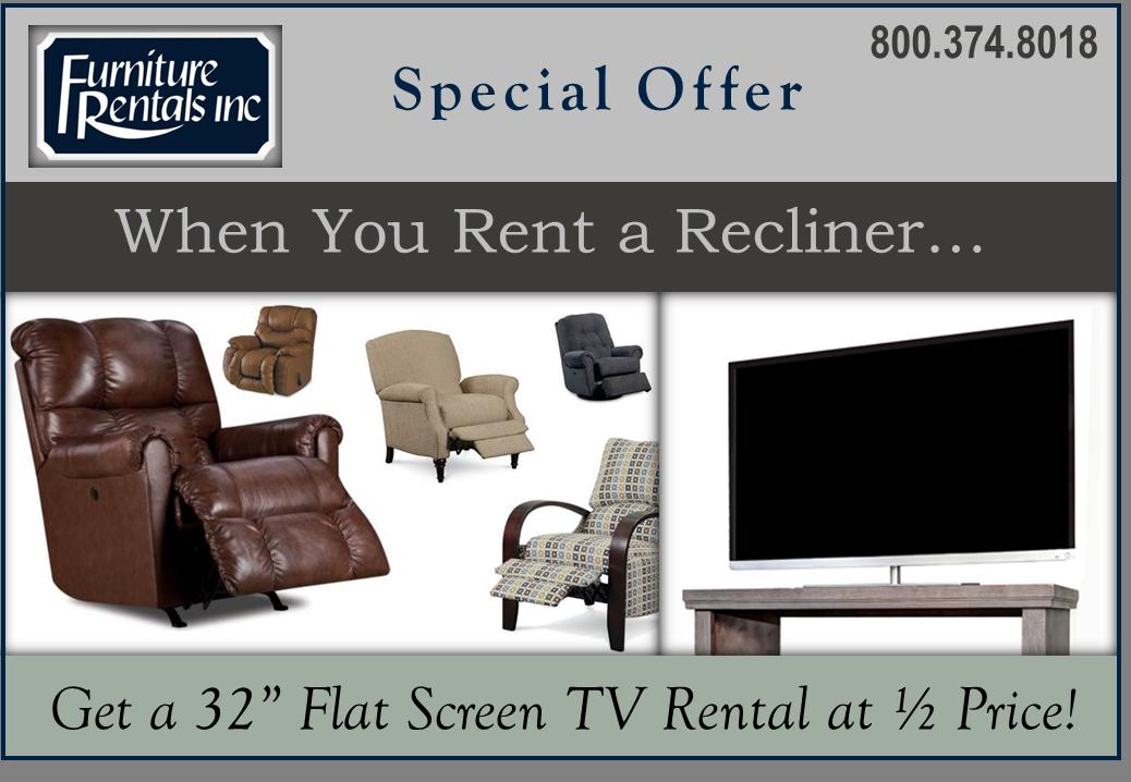 Flat Screen Tv Rental And Recliner Rental Promotion