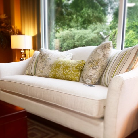 Mt Pleasant SC Home Staging White Couch