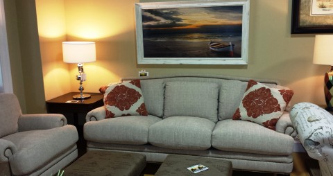 Home Staging Furniture - White Sofa