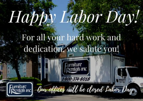 Happy Labor Day from Furniture Rentals, Inc.
