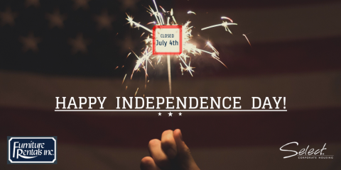 Happy Independence Day from Furniture Rentals, Inc.