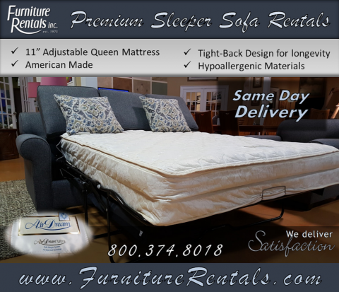 Premium Sofabed Rentals Furniture Rentals Inc