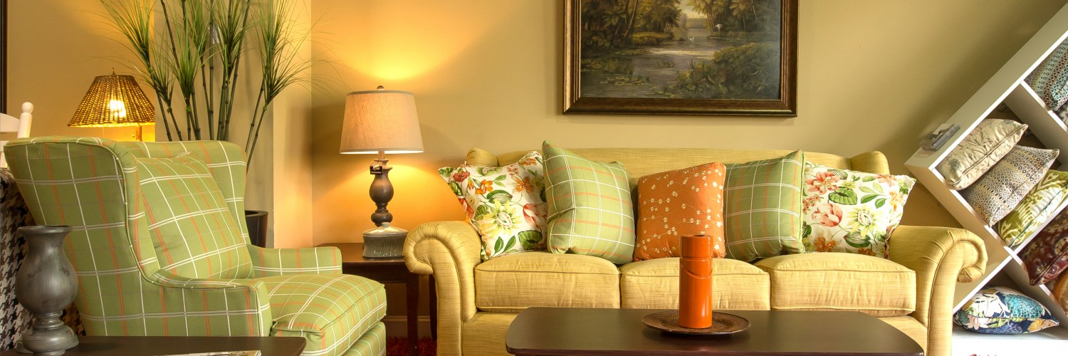 Home Staging with Bright Colored Furniture