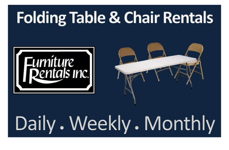 Pleasing Folding Tables Folding Chairs Weekly Rentals Furniture Ibusinesslaw Wood Chair Design Ideas Ibusinesslaworg
